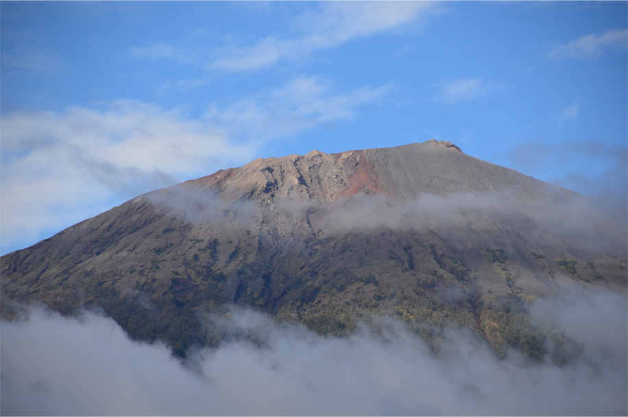 The summit from Sembalun Lawang