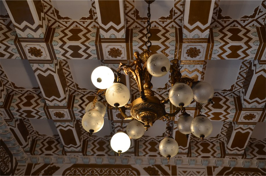 Gilded glory inside the entrance hall