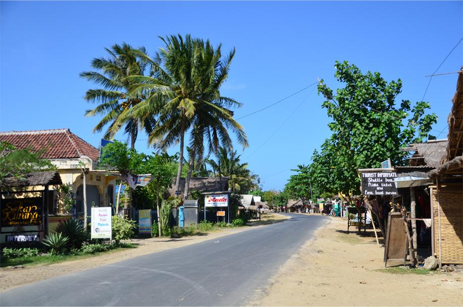 Kuta Lombok's main street