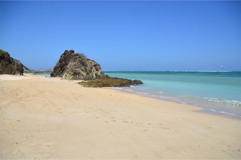 Kuta's near-empty beach