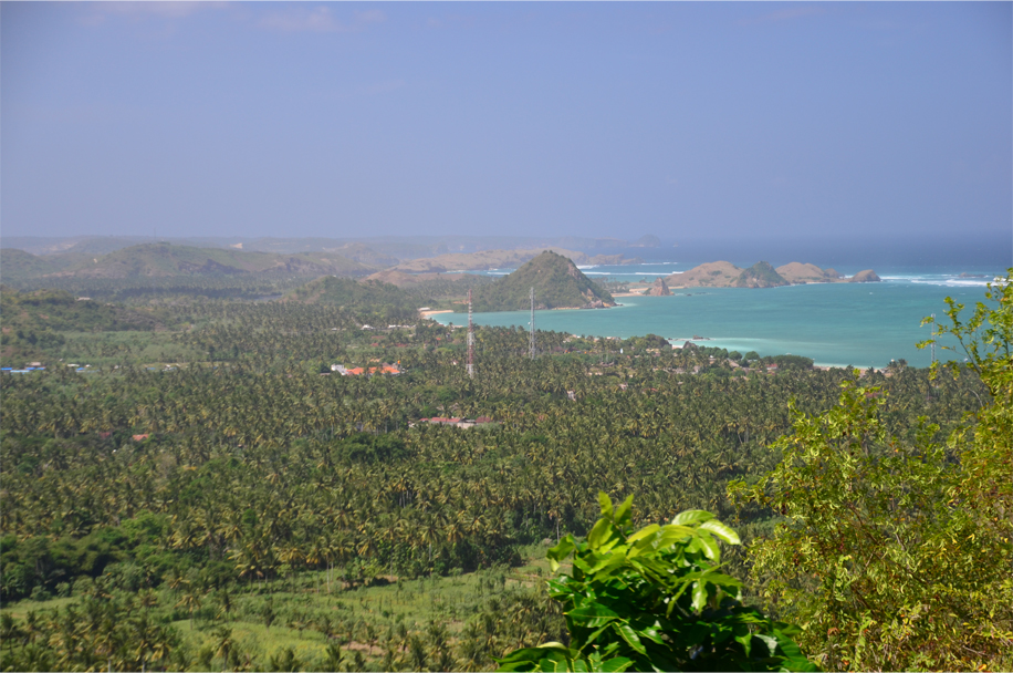 The view of Kuta from a nearby hillside