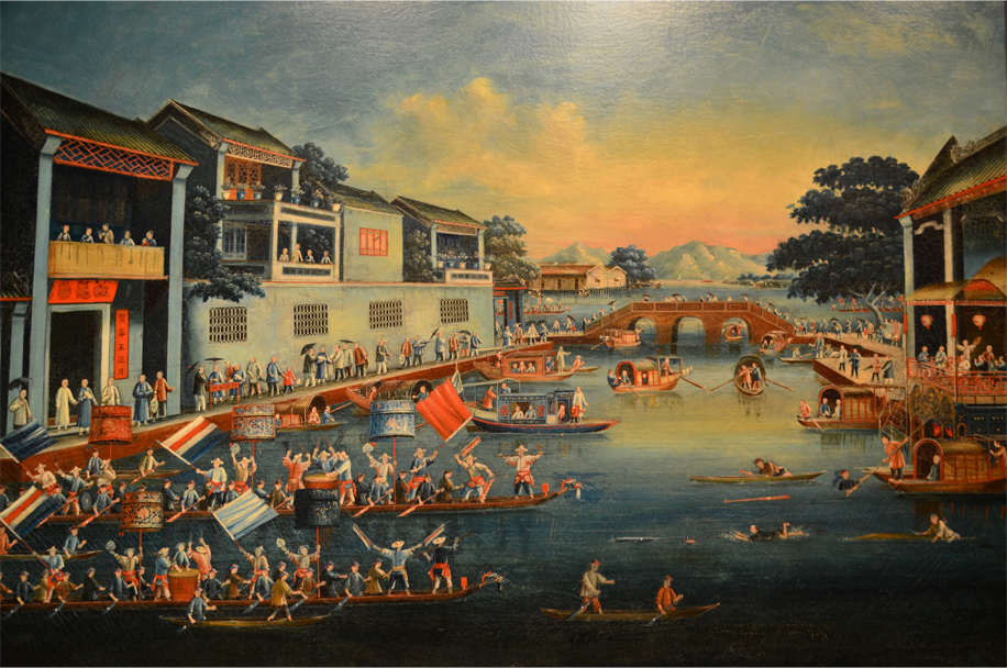 Dragon boat races in the 19th century