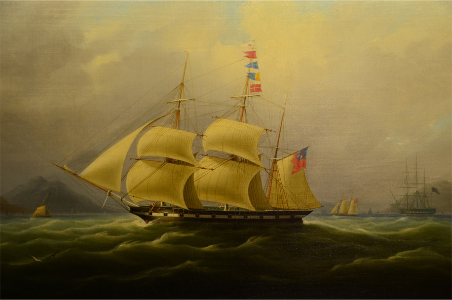 The opium clipper Sylph off the China coast, c.1830s