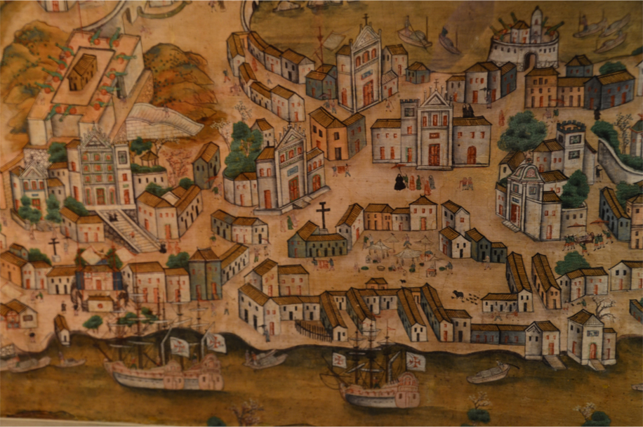 Macau in the late 18th century - a city of churches