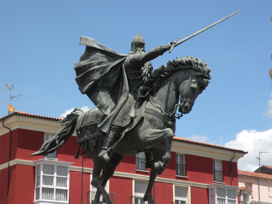 "El Cid Campeador (""the Champion"") and his beloved steed, Babieca"