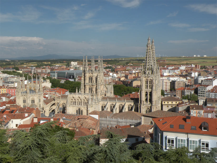 Burgos from a lookout below the castle