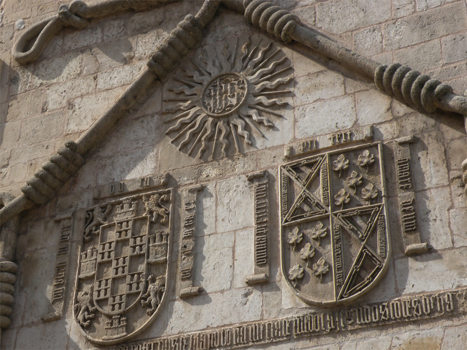 Coats of arms on the Casa del Cordón, a 15th-century palace