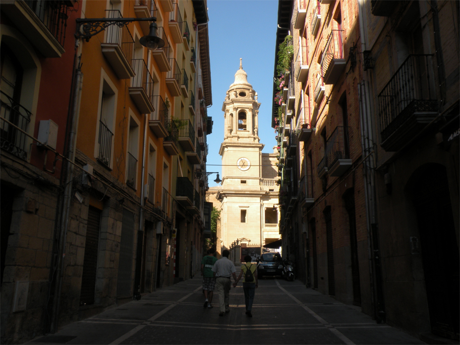 Inside Pamplona's old town