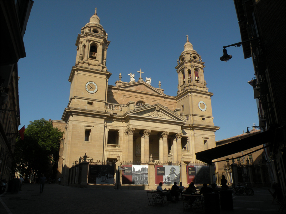 The cathedral's neoclassical front