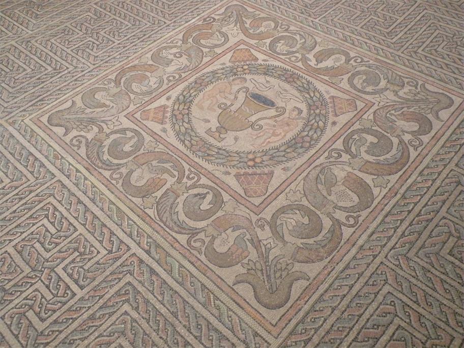 Roman mosaic in the Museum of Navarra