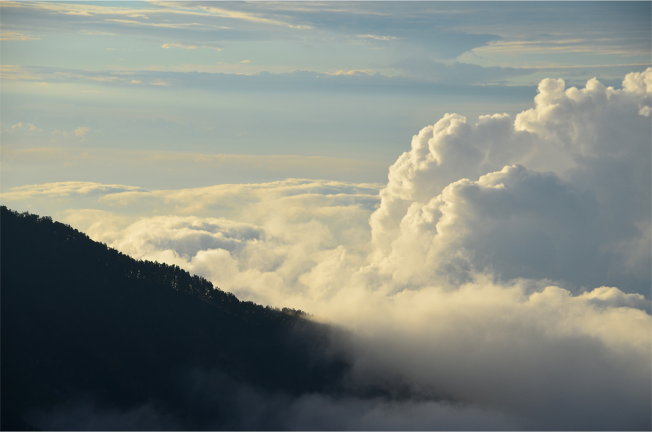 Above the clouds, Mt. Rinjani