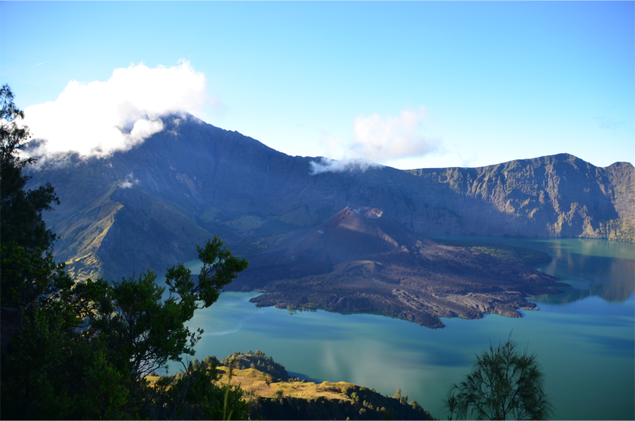 Morning on Mount Rinjani, Lombok, Indonesia