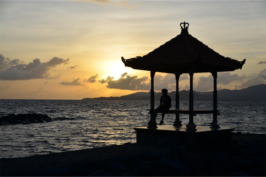Sunset at Candidasa, Bali