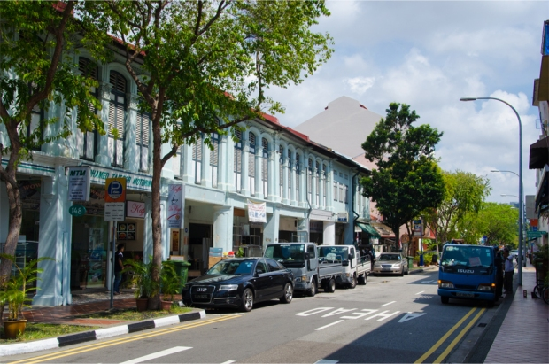 Looking down Joo Chiat Road