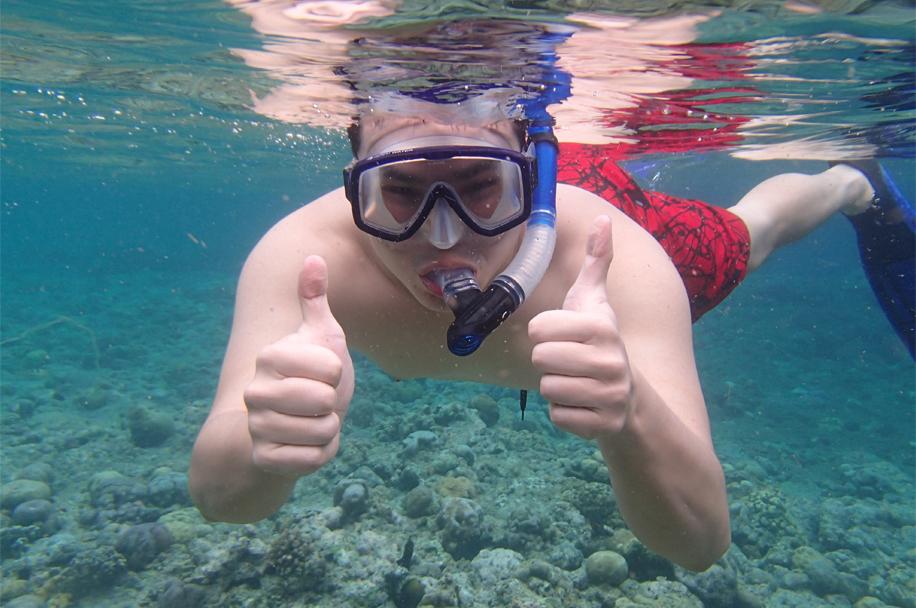 Snorkelling off Menjangan Island, Bali