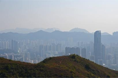 The skyscrapers of Tsuen Wan