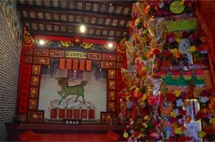 Inside the village ancestral shrine