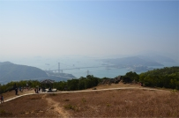 Overlooking Tsing Ma Bridge - connecting the city to the airport off Lantau
