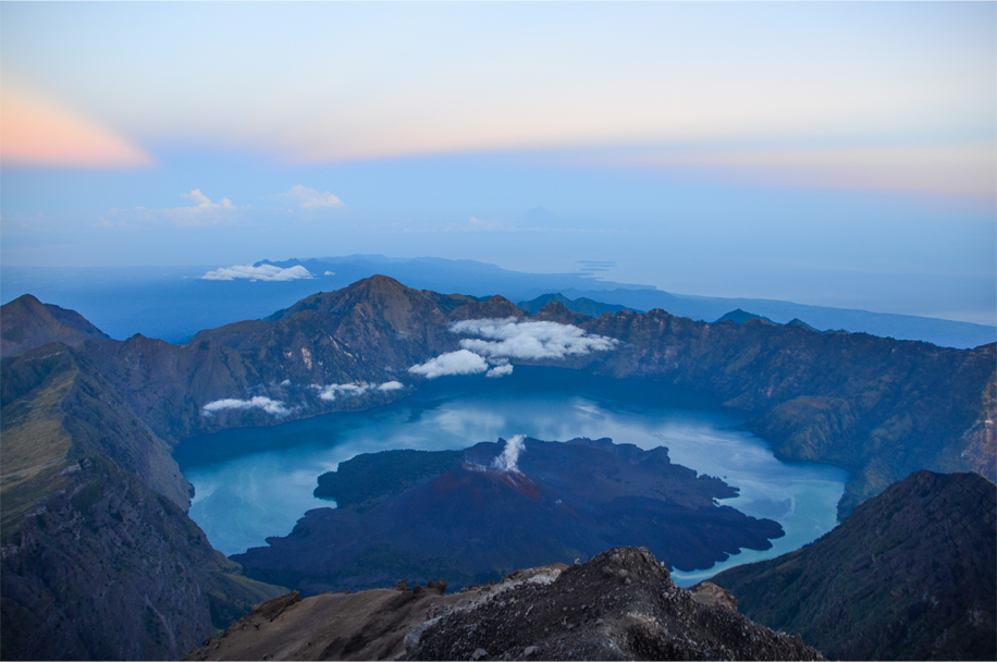 Rinjani at sunrise