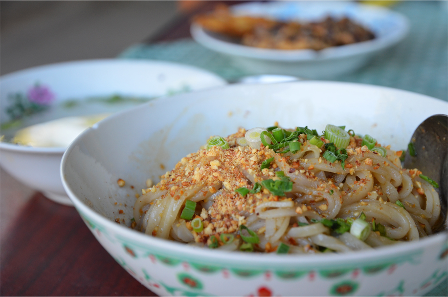 Shan khao swè / Shan noodles in Nyaung Shwe, Shan State