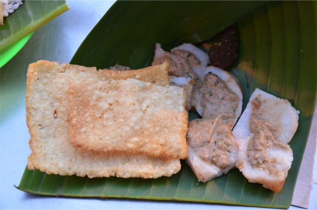 Cabuk rambak with rice crackers, Solo