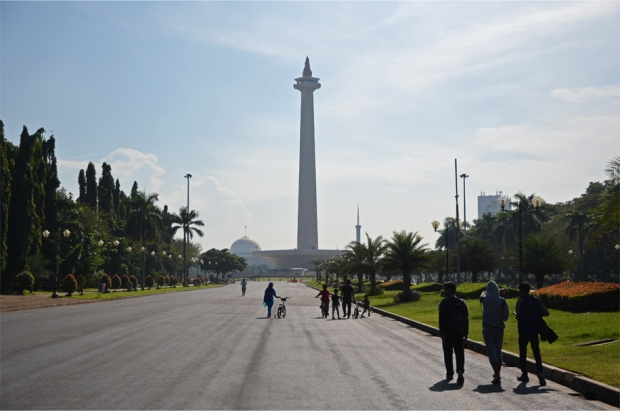 Jakarta's National Monument (Monas) in the centre of Merdeka Square