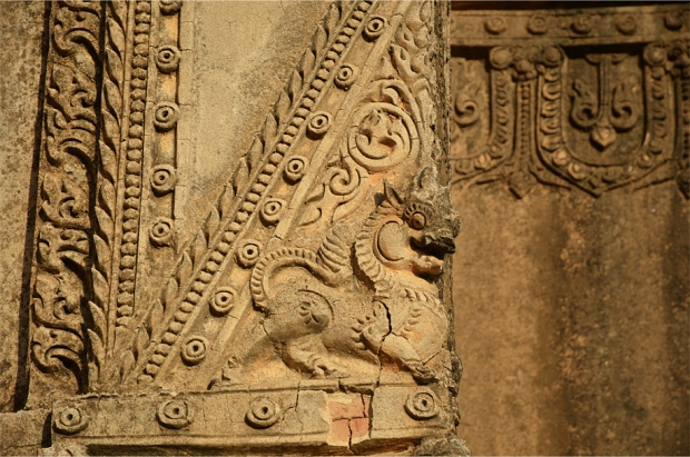 A mythical 'chinthe' on Tayok Pye temple