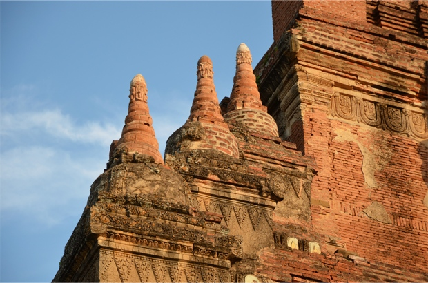 Restored miniature stupas