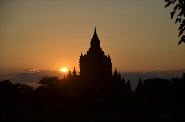 The temple at sunset