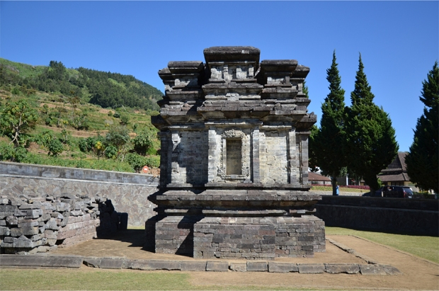 Candi Gatotkaca, in front of the Kailasa Museum
