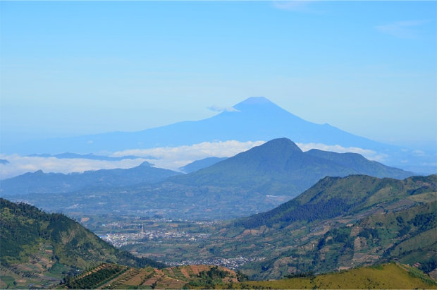 Mt. Slamet, the second-highest mountain in Java at 3,428 m (11,247 ft)