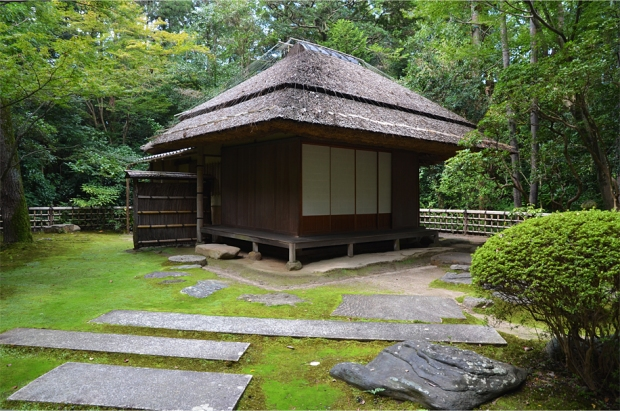 A secluded teahouse inside the gardens