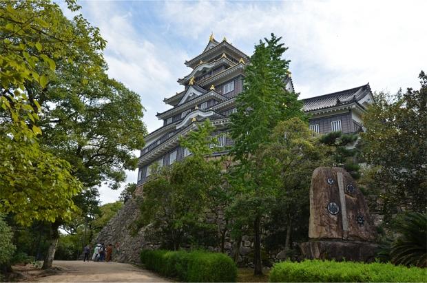 Below Okayama Castle's main keep