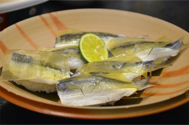 Mamakari-zushi (pickled sardinella sushi)