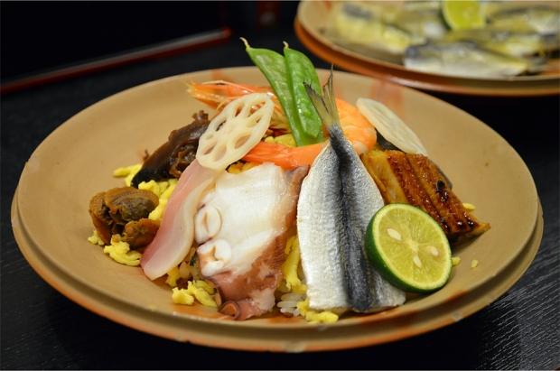 Bara-zushi, another Okayama specialty