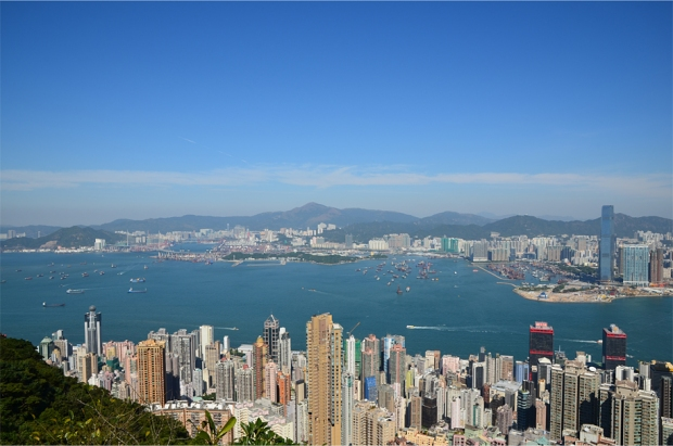 Victoria Harbour's western approaches