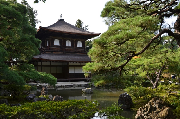 Unlike its gold-leafed counterpart across town, Ginkaku-ji was never clad in silver