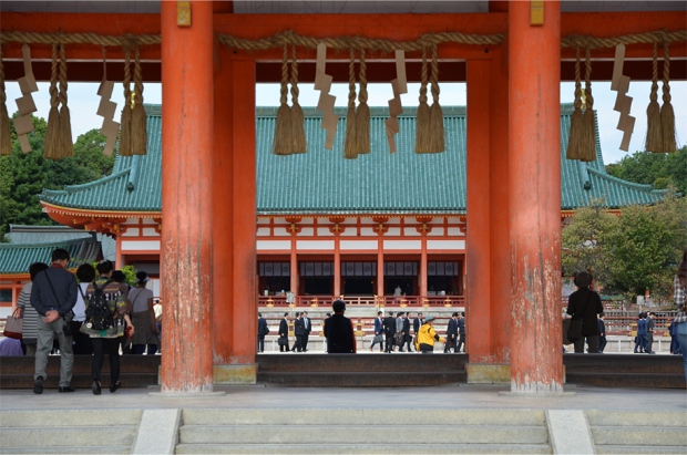 Heian Shrine, originally built in 1895 to celebrate 1,100 years since the founding of Kyoto