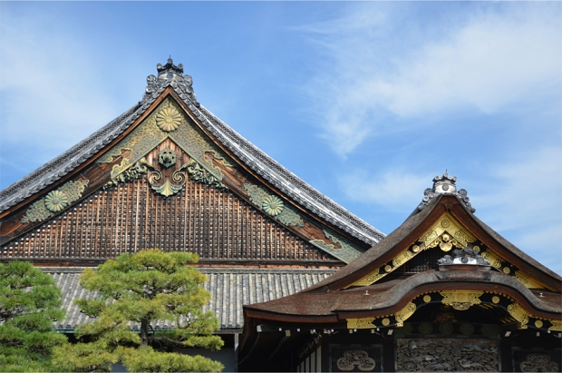 Palace rooftops at Nijo Castle