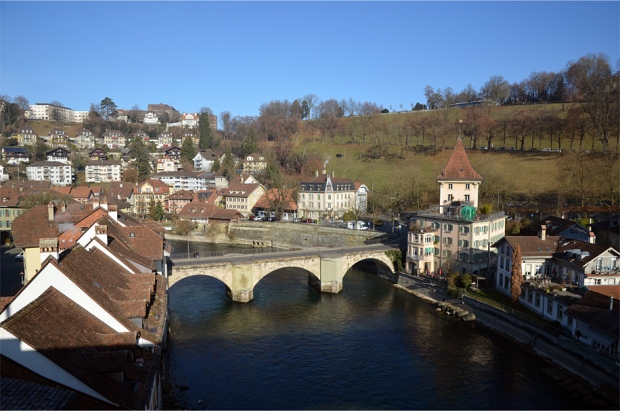 Bern's oldest bridge, the Untertorbrücke (finished in 1490)