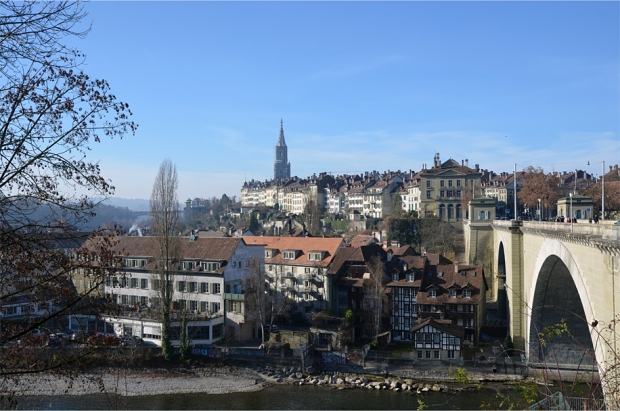 Much of the old city stands above the riverside neighborhood known as Mattequartier