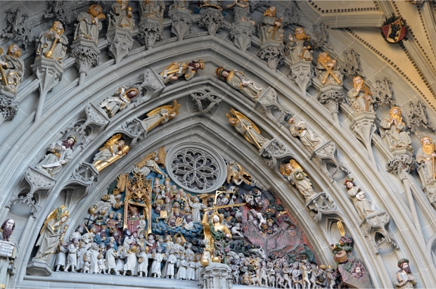 The Last Judgment, depicted on the main portal of the cathedral's west front