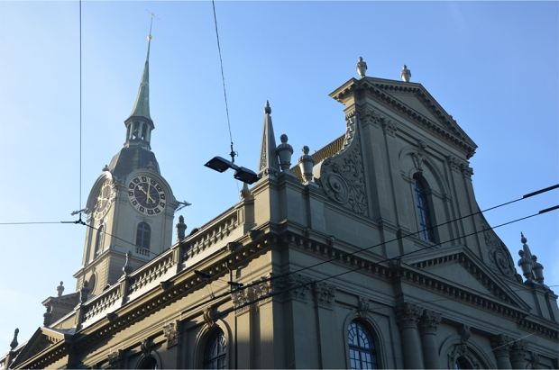 Holy Spirit Church, a Baroque landmark just outside Bern's train station