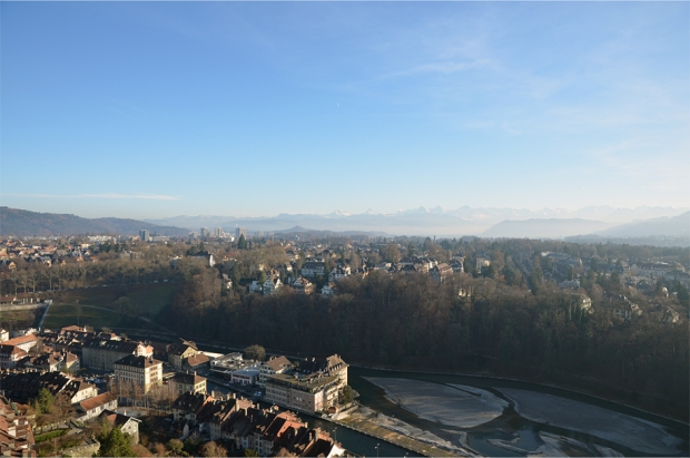 Parts of Bern appear as a city in a forest