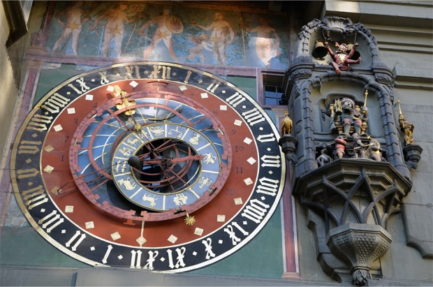 The 15th-century astronomical clock on the Zytglogge