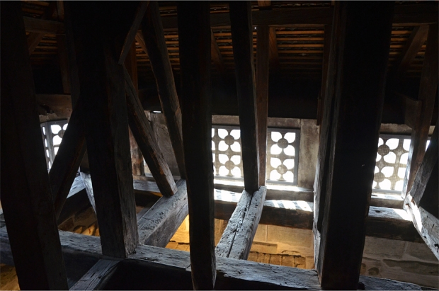 Inside the Zytglogge's attic