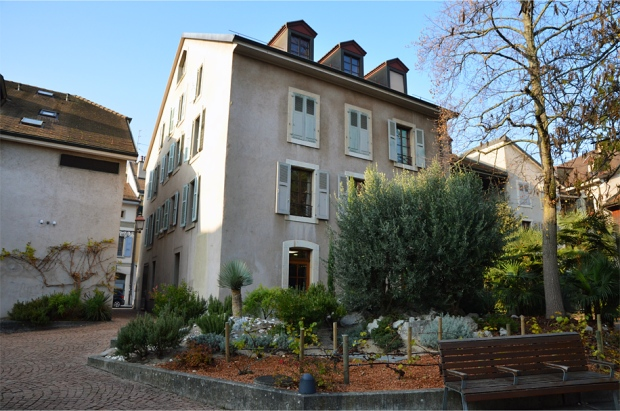 A secret Mediterranean-style garden in Carouge