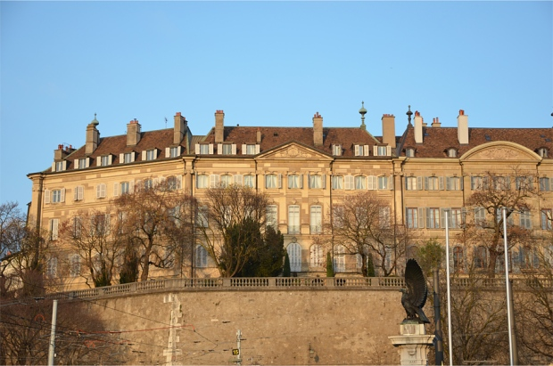 18th-century mansions on the former ramparts of the old town