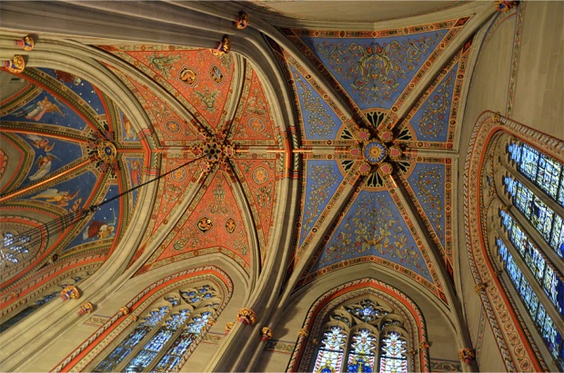 Vaulted splendor in the cathedral's Chapel of the Maccabees