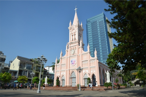 Da Nang's neo-Gothic cathedral, built in 1923